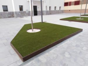 cesped artificial espacios publicos